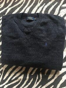 Navy mens Ralph Lauren sweatshirt medium