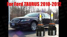 LED TAURUS 2010-2012 Headlight Kit 9005 HB3 6000K White CREE Bulbs Low Beam