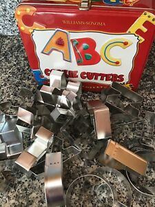 Williams Sonoma ABC Cookie Cutter Set - Collectors Lunchbox - 26+ Cookie Cutters