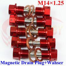 M14X1.25 ENGINE MAGNETIC OIL PAN DRAIN PLUG BOLTS CRUSH WASHER M14 BOLT KIT RD10