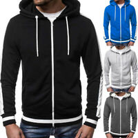 Herren Winter Hooded Sweatjacke Langarm Kapuzenpullover Sweatshirt Sport Outwear