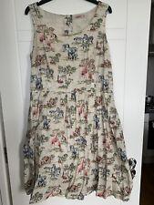 Cath Kidston 16 Vintage Style 50's Safari Print Dress / With Pockets