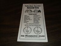 APRIL 1955 MILWAUKEE ROAD NORTH SUBURBAN PUBLIC TIMETABLE