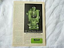 1960 Wild Heerbrugg T 1a Transit Theodolite Surveying Instrument Print Ad