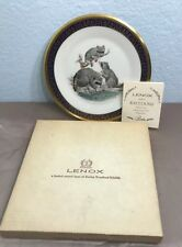 Lenox Woodland Wildlife Raccoons Collector Plate by Boehm with box 1973 Usa