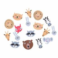 Hot Decoration Fashion Cute Wooden Scrapbooking Animal Partten Sewing Buttons