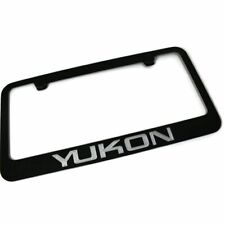 GMC Yukon License Plate Frame Number Tag Engraved Black Powder Coated Zinc