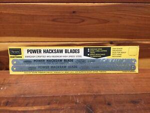 NOS Sears Craftsman Power Hacksaw Blade 65888 / 12x14T High Speed Steel - Sweden