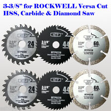 "6x 3-3/8"" inch Metal Wood Tile Saw Blade for ROCKWELL VersaCut RK3440K Nextec"