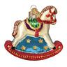 Old World Christmas ROCKING HORSE (44133)N Glass Ornament w/ OWC Box