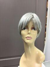 Raquel Welch MODERN LOVE Short Asymmetrical HD Wig, R56/60 Light Grey