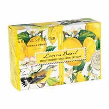 Michel Design Works Lemon Basil Shea Butter Soap Bar Fresh Lemon & Basil Scent