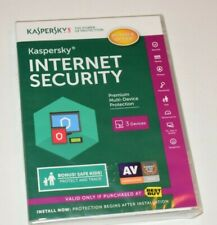 New Sealed 2015 Kaspersky Internet Security For 3 Devices Software Computers