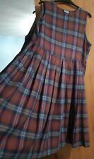 Laura Ashley Vintage Plaid Tartan Pinafore Dress Size 18