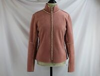 Anthropologie Pink Zippered Jacket By Velvet Size M Long Sleeves Excellent
