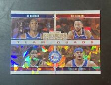 2019-20 Contenders Ben Simmons Team Quads Cracked Ice #25/25 Jersey Number 1/1