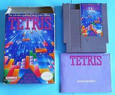 Tetris (Nintendo NES, 1989) AUTHENTIC! COMPLETE! CIB! WORKS GREAT!