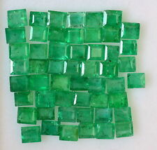2.60 Cts Natural Emerald Baguette Cut Lot 24 Pcs Green Zambian Loose Gemstones