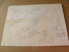VINTAGE , 12 +   N.F.L.  FOOTBALL  PLAYER  HAND  SIGNED  AUTOGRAPHED  FULL  PAGE