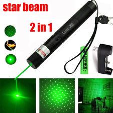 Laserpointer 303 Grün 1MW 532NM Strahl Sichtbar Beam Light +18650 + Ladegerät DE