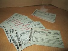 10 old unused  Texaco GAS STATION CREDIT CARD receipts movie prop 2 copy 1972