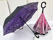 Parapluie inversé  PAPILLONS Violet CADEAU=étui transport 18,90€ -10%