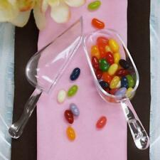 6 /pk Clear Plastic Disposable Candy Scoop Wedding Party Catering