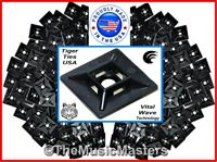"""300 Cable Wire Zip Tie Wrap ADHESIVE PAD MOUNTS 0.75/"""" USA Tough Mounting Clips"""