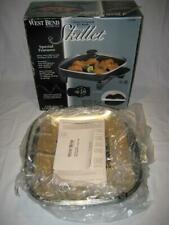 NIB ~ West Bend 12 Inch Electric Skillet with Glass Covered ~ New
