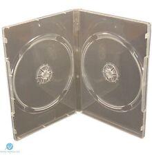 1 doppio standard chiaro DVD caso 14mm Spina Dorsale NUOVO VUOTO Copertina regolare