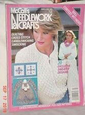 McCALLS NEEDLEWORK CRAFTS MAY JUNE 1983 QUILTING SWEATER DESIGNS CANDLEWICKING