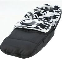 Universal Fleece Car Seat Footmuff / Cosy Toes Newborn Baby - Grey Camouflage