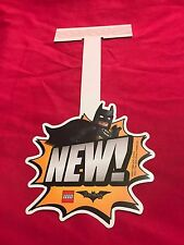 Lego Batman Movie Shelf Talker Store Sign New