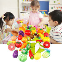 24pcs/set Kitchen Pretend Play Fruit Vegetable Cutting Toy  Role Game House Food
