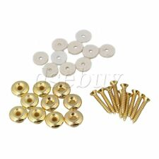 10x Gold Mushrooms Head Guitar Strap Buttons for Guitar Replacement