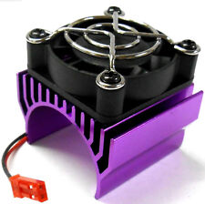 AH001 550 540 Motor Cooling Heatsink Heat Sink Vented Purple Single Fan for JST