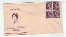 1953 QEII 1d Block Of 4  Un Cancelled    Guthrie   First Day Cover