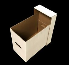 (12) CSP Short Comic Cardboard Double Wall Storage Boxes with lids-NEW!