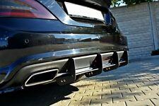 Diffusor ansatz Mercedes Benz CLS W218 Heck Ansatz DTM Splitter AMG 63 65 Rippen
