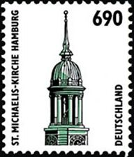 Germany BRD**ST-MICHAEL KIRCHE-HAMBURG-6,90 DM-Mi 1860-with Number-FACE VALUE