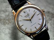 Impresionante 1960 sólido de 9 quilates de oro Rolex Super Precision Auto Caballeros Reloj Vintage