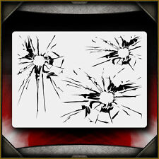 Shattered Glass Airbrush Stencil Template Airsick