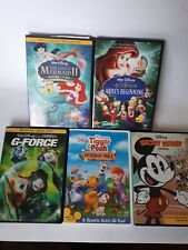 Lot of 5 Disney DVDs, Mickey season1,  G-Force, 2 little Mermaid, Friendly Tails