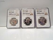 **3 Coin Set **1967 SMS 50c Silver Kennedy Half Dollar NGC MS 67/66/65 Cameo