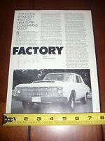 1964 PLYMOUTH 426 HEMI SUPER COMMANDO SAVOY - ORIGINAL 1987 ARTICLE