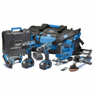 8 Piece Draper Storm Force 20V Power Tool Kit, Blue/Black FREE DELIVERY