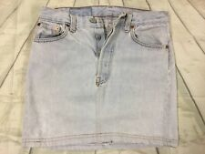 Woman's Levi's 501 Button Fly Denim Skirt Size 8 #S59