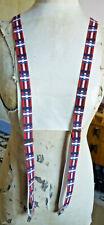 Fabulous Vintage Style Braces  - Red,White/Blue Plaid - Y Back