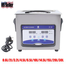 Stainless Ultrasonic Cleaner Ultra Sonic Bath Cleaning Tank Timer Heater