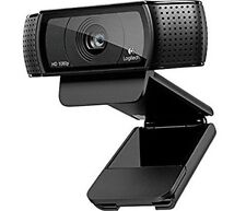 NUOVO Nero Logitech c920 HD Pro Webcam 1080p USB con Cavo 6ft e manuale